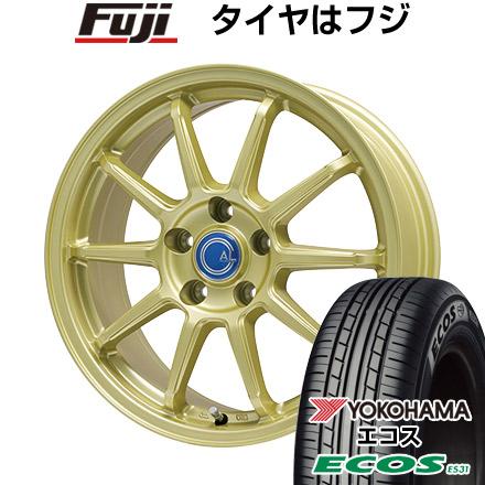 タイヤはフジ 送料無料 BRANDLE-LINE ブランドルライン カルッシャー ゴールド 7J 7.00-17 YOKOHAMA エコス ES31 215/45R17 17インチ サマータイヤ ホイール4本セット