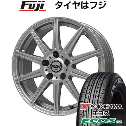 タイヤはフジ 送料無料 CLIMATE クライメイト アリア 7J 7.00-17 YOKOHAMA エコス ES31 215/50R17 17インチ サマータイヤ ホイール4本セット