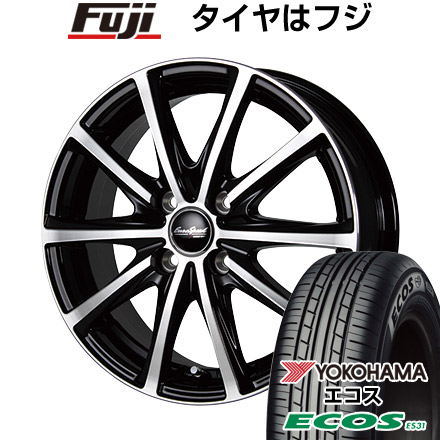 タイヤはフジ 送料無料 MID ユーロスピード V25 4.5J 4.50-15 YOKOHAMA エコス ES31 165/55R15 15インチ サマータイヤ ホイール4本セット