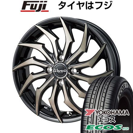 タイヤはフジ 送料無料 MONZA モンツァ ワーウィック ハーベル 6J 6.00-16 YOKOHAMA エコス ES31 185/60R16 16インチ サマータイヤ ホイール4本セット