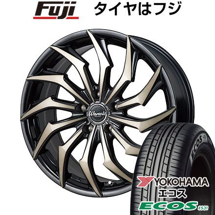 タイヤはフジ 送料無料 MONZA モンツァ ワーウィック ハーベル 7J 7.00-17 YOKOHAMA エコス ES31 215/45R17 17インチ サマータイヤ ホイール4本セット