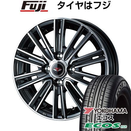 タイヤはフジ 送料無料 WEDS ウェッズ テッドスナップ 4.5J 4.50-14 YOKOHAMA エコス ES31 155/65R14 14インチ サマータイヤ ホイール4本セット