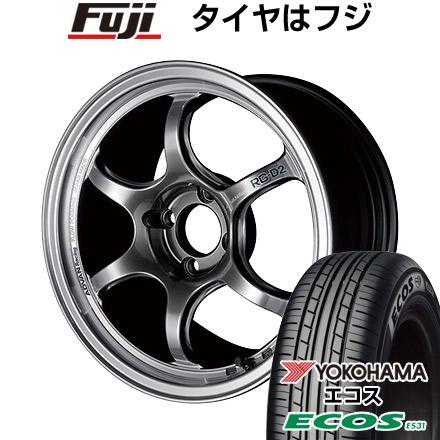 タイヤはフジ 送料無料 YOKOHAMA アドバンレーシング RG-DII 5.5J 5.50-15 YOKOHAMA エコス ES31 175/60R15 15インチ サマータイヤ ホイール4本セット