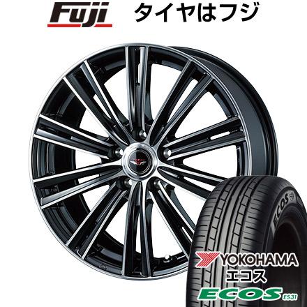 タイヤはフジ 送料無料 WEDS ウェッズ テッドスナップ 6.5J 6.50-16 YOKOHAMA エコス ES31 215/65R16 16インチ サマータイヤ ホイール4本セット