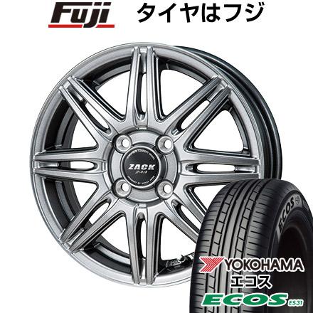 7/25はエントリーでポイント15倍 タイヤはフジ 送料無料 MONZA モンツァ ZACK JP-818 4.5J 4.50-14 YOKOHAMA エコス ES31 165/55R14 14インチ サマータイヤ ホイール4本セット