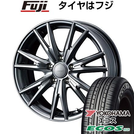 タイヤはフジ 送料無料 WEDS ウェッズ ヴェルバ ケヴィン 6.5J 6.50-16 YOKOHAMA エコス ES31 205/55R16 16インチ サマータイヤ ホイール4本セット