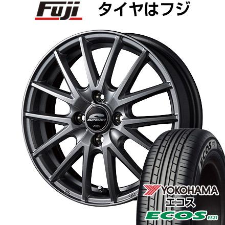 タイヤはフジ 送料無料 MID シュナイダー SQ27 5.5J 5.50-15 YOKOHAMA エコス ES31 175/65R15 15インチ サマータイヤ ホイール4本セット