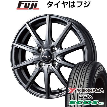 タイヤはフジ 送料無料 MID ユーロストリーム JL10 4J 4.00-13 YOKOHAMA エコス ES31 155/65R13 13インチ サマータイヤ ホイール4本セット