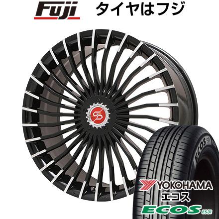 タイヤはフジ 送料無料 PREMIX プレミックス グラッパ f30 (ブラックポリッシュ) 7J 7.00-17 YOKOHAMA エコス ES31 215/45R17 17インチ サマータイヤ ホイール4本セット