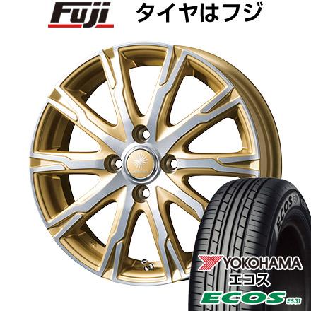 タイヤはフジ 送料無料 TOPY トピー ディルーチェ DX10 4.5J 4.50-14 YOKOHAMA エコス ES31 165/55R14 14インチ サマータイヤ ホイール4本セット