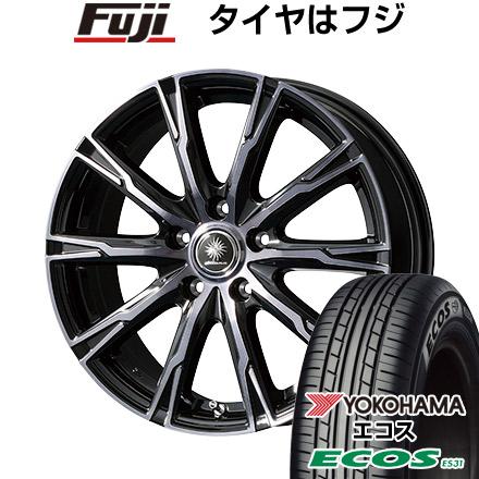タイヤはフジ 送料無料 TOPY トピー ディルーチェ DX10 6J 6.00-15 YOKOHAMA エコス ES31 195/65R15 15インチ サマータイヤ ホイール4本セット