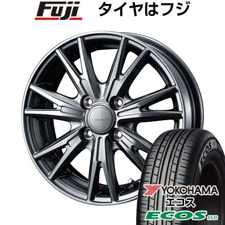 タイヤはフジ 送料無料 ソリオ(MA26S) WEDS ウェッズ ヴェルバ ケヴィン 4.5J 4.50-14 YOKOHAMA エコス ES31 165/70R14 14インチ サマータイヤ ホイール4本セット