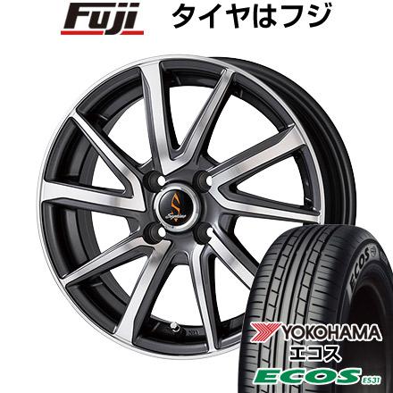 タイヤはフジ 送料無料 WORK ワーク セプティモ G01 ダークグレーポリッシュ 5.5J 5.50-15 YOKOHAMA エコス ES31 175/55R15 15インチ サマータイヤ ホイール4本セット