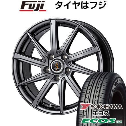 タイヤはフジ 送料無料 WORK ワーク セプティモ G01 ダークグレー 6.5J 6.50-16 YOKOHAMA エコス ES31 215/65R16 16インチ サマータイヤ ホイール4本セット