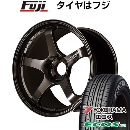 『1年保証』 タイヤはフジ 送料無料 YOKOHAMA アドバンレーシング GT プレミアムバージョン 8J 8.00-18 YOKOHAMA エコス ES31 225/45R18 18インチ サマータイヤ ホイール4本セット, マイジェンヌ 1727fd2f
