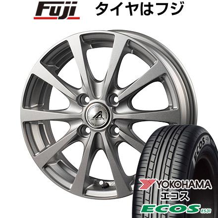 タイヤはフジ 送料無料 INTER MILANO インターミラノ AZ-SPORTS EX-10 5.5J 5.50-15 YOKOHAMA エコス ES31 185/60R15 15インチ サマータイヤ ホイール4本セット