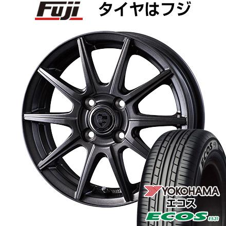 タイヤはフジ 送料無料 INTER MILANO インターミラノ クレール GS10J 5.5J 5.50-14 YOKOHAMA エコス ES31 185/70R14 14インチ サマータイヤ ホイール4本セット