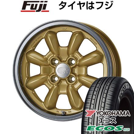 タイヤはフジ 送料無料 ENKEI エンケイ allシリーズ オールエイティーン コンペ 6J 6.00-15 YOKOHAMA エコス ES31 195/55R15 15インチ サマータイヤ ホイール4本セット