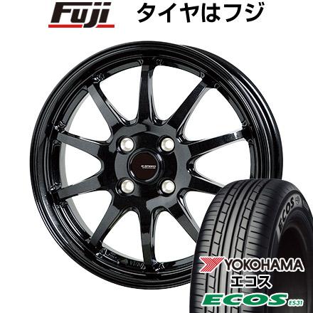 タイヤはフジ 送料無料 HOT STUFF ホットスタッフ ジースピード G-04 4.5J 4.50-14 YOKOHAMA エコス ES31 155/65R14 14インチ サマータイヤ ホイール4本セット