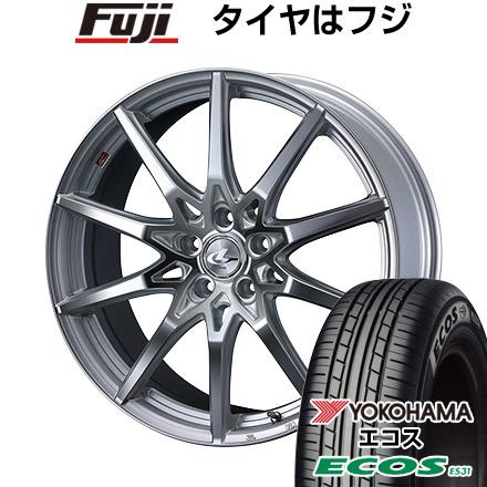 タイヤはフジ 送料無料 WEDS ウェッズ レオニス SV 7J 7.00-17 YOKOHAMA エコス ES31 215/50R17 17インチ サマータイヤ ホイール4本セット