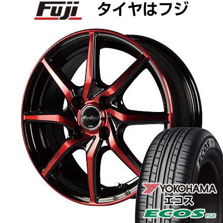 タイヤはフジ 送料無料 MID ユーロスピード S810 4.5J 4.50-14 YOKOHAMA エコス ES31 155/65R14 14インチ サマータイヤ ホイール4本セット