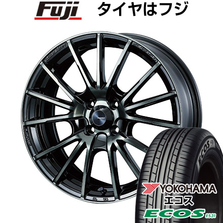 タイヤはフジ 送料無料 WEDS ウェッズスポーツ SA-35R 6J 6.00-15 YOKOHAMA エコス ES31 175/65R15 15インチ サマータイヤ ホイール4本セット
