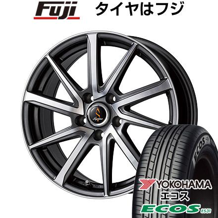 タイヤはフジ 送料無料 WORK ワーク セプティモ G01 ダークグレーポリッシュ 6.5J 6.50-16 YOKOHAMA エコス ES31 215/60R16 16インチ サマータイヤ ホイール4本セット