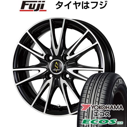 タイヤはフジ 送料無料 WORK ワーク セプティモ G02 ブラックポリッシュ 6J 6.00-16 YOKOHAMA エコス ES31 195/55R16 16インチ サマータイヤ ホイール4本セット