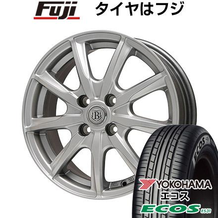 タイヤはフジ 送料無料 BRANDLE ブランドル E05 6J 6.00-15 YOKOHAMA エコス ES31 195/65R15 15インチ サマータイヤ ホイール4本セット