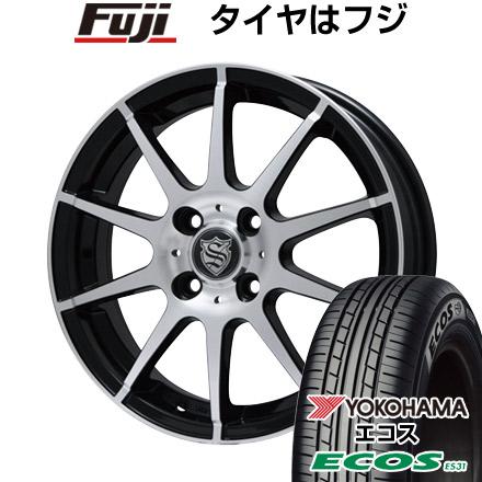 タイヤはフジ 送料無料 BRANDLE ブランドル 562B 4J 4.00-13 145/80R13 13インチ YOKOHAMA エコス ES31 サマータイヤ ホイール4本セット