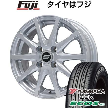 タイヤはフジ 送料無料 i(アイ)用 BRANDLE ブランドル M71 F:4.50-15 R:5.50-15 YOKOHAMA エコス ES31 F:145/65R15 R:175/55R15 サマータイヤ ホイール4本セット