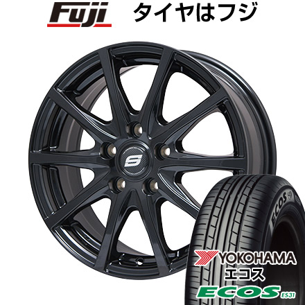 タイヤはフジ 送料無料 BRANDLE ブランドル M71B 7.5J 7.50-18 YOKOHAMA エコス ES31 215/45R18 18インチ サマータイヤ ホイール4本セット