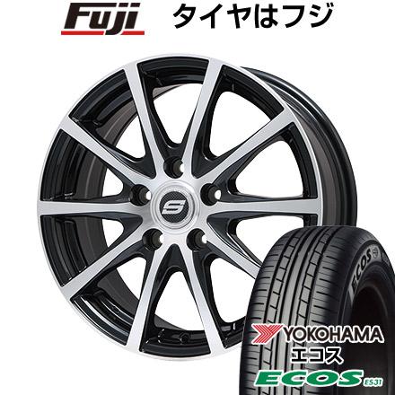 タイヤはフジ 送料無料 BRANDLE ブランドル M71BP 7.5J 7.50-18 YOKOHAMA エコス ES31 225/45R18 18インチ サマータイヤ ホイール4本セット