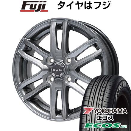 タイヤはフジ 送料無料 BRANDLE ブランドル G61 4J 4.00-13 155/70R13 13インチ YOKOHAMA エコス ES31 サマータイヤ ホイール4本セット