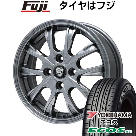 7/25はエントリーでポイント15倍 タイヤはフジ 送料無料 BRANDLE ブランドル 486 5J 5.00-15 YOKOHAMA エコス ES31 165/55R15 15インチ サマータイヤ ホイール4本セット