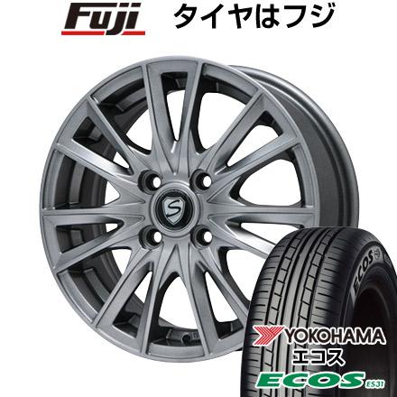 タイヤはフジ 送料無料 BRANDLE ブランドル 485 5.5J 5.50-15 YOKOHAMA エコス ES31 175/55R15 15インチ サマータイヤ ホイール4本セット