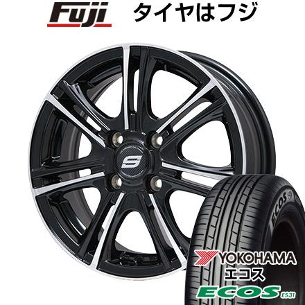 タイヤはフジ 送料無料 BRANDLE ブランドル M68BP 5.5J 5.50-14 YOKOHAMA エコス ES31 165/65R14 14インチ サマータイヤ ホイール4本セット