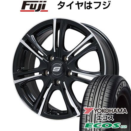 タイヤはフジ 送料無料 BRANDLE ブランドル M68BP 6.5J 6.50-16 YOKOHAMA エコス ES31 215/65R16 16インチ サマータイヤ ホイール4本セット