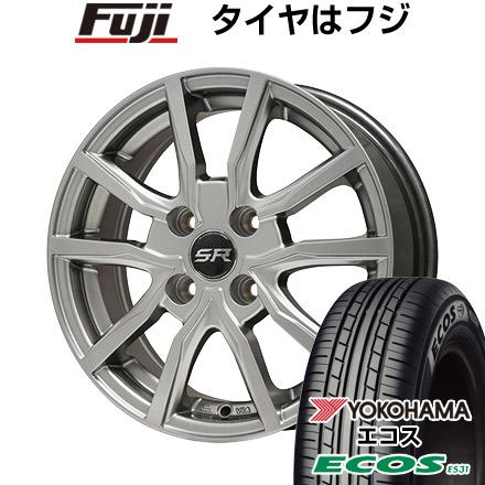 タイヤはフジ 送料無料 BRANDLE ブランドル N52 4J 4.00-13 155/70R13 13インチ YOKOHAMA エコス ES31 サマータイヤ ホイール4本セット