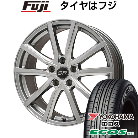 タイヤはフジ 送料無料 BRANDLE ブランドル N52 7J 7.00-17 YOKOHAMA エコス ES31 215/50R17 17インチ サマータイヤ ホイール4本セット