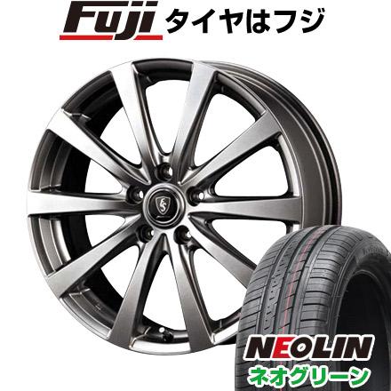 タイヤはフジ 送料無料 シエンタ 5穴/100 MID ユーロスピード G10 5.5J 5.50-15 NEOLIN ネオリン ネオグリーン(限定) 185/60R15 15インチ サマータイヤ ホイール4本セット