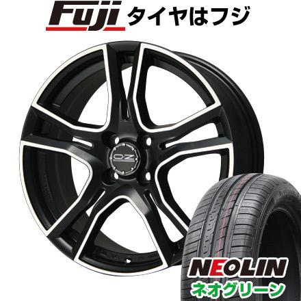 タイヤはフジ 送料無料 OZ X-LINE アドレナリーナ 6J 6.00-15 NEOLIN ネオリン ネオグリーン(限定) 185/65R15 15インチ サマータイヤ ホイール4本セット