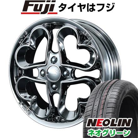 【公式】 タイヤはフジ 送料無料 PIAA ジュエルハート 5J 5.00-15 NEOLIN ネオリン ネオグリーン(限定) 165/55R15 15インチ サマータイヤ ホイール4本セット, クルマノブヒンヤ 0d7df483