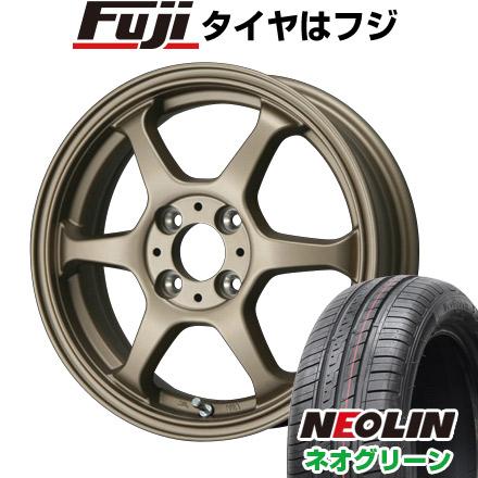 タイヤはフジ 送料無料 LEHRMEISTER リアルスポーツ カリスマVS6 5J 5.00-15 NEOLIN ネオリン ネオグリーン(限定) 165/55R15 15インチ サマータイヤ ホイール4本セット