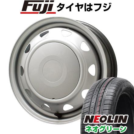 タイヤはフジ 送料無料 ELBE エルベ オリジナル スチール 5.5J 5.50-14 NEOLIN ネオリン ネオグリーン(限定) 175/65R14 14インチ サマータイヤ ホイール4本セット