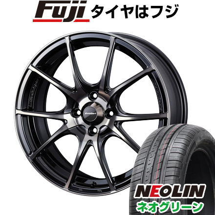 タイヤはフジ 送料無料 WEDS ウェッズスポーツ SA-10R 5J 5.00-15 NEOLIN ネオリン ネオグリーン(限定) 165/55R15 15インチ サマータイヤ ホイール4本セット