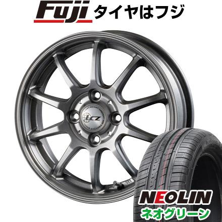 タイヤはフジ 送料無料 INTER MILANO インターミラノ LCZ 010 4.5J 4.50-15 NEOLIN ネオリン ネオグリーン(限定) 165/50R15 15インチ サマータイヤ ホイール4本セット