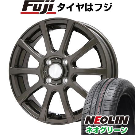 タイヤはフジ 送料無料 BRANDLE ブランドル 565Z 5.5J 5.50-15 NEOLIN ネオリン ネオグリーン(限定) 185/65R15 15インチ サマータイヤ ホイール4本セット
