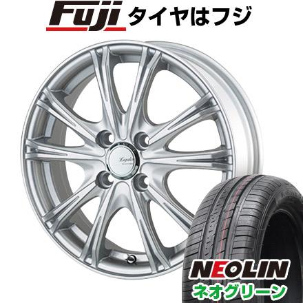 タイヤはフジ 送料無料 5ZIGEN ゴジゲン リーガレスα EX 4.5J 4.50-15 NEOLIN ネオリン ネオグリーン(限定) 165/55R15 15インチ サマータイヤ ホイール4本セット