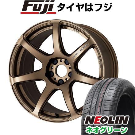 タイヤはフジ 送料無料 WORK ワーク エモーション T7R 6.5J 6.50-15 NEOLIN ネオリン ネオグリーン(限定) 175/65R15 15インチ サマータイヤ ホイール4本セット